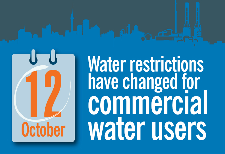 commercial water restrictions amended 12 October 2020