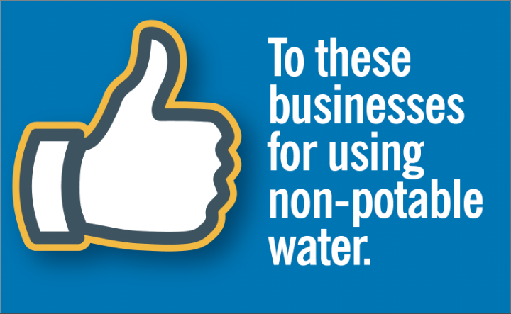 businesses using non potable water