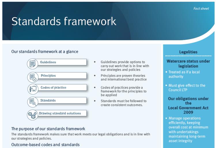 engineering standards framework guidance notes