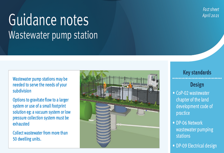 Guidance note wastewater pump stations