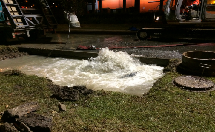 Leak on Watercare's Auckland network