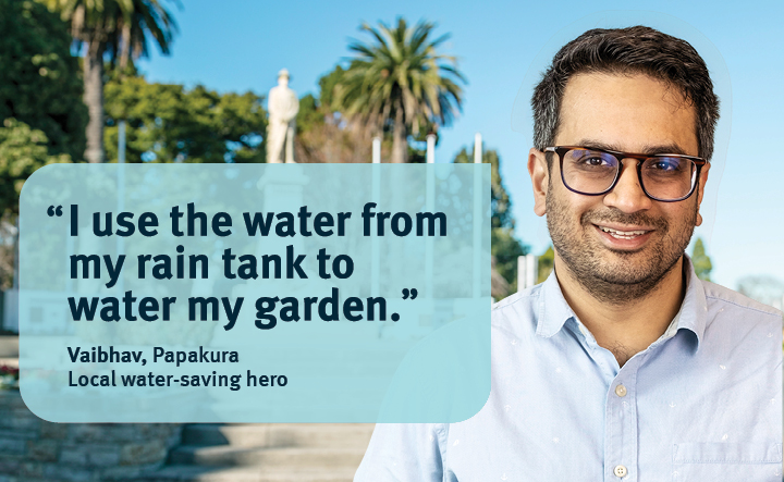 water saving tip from a local water saving hero