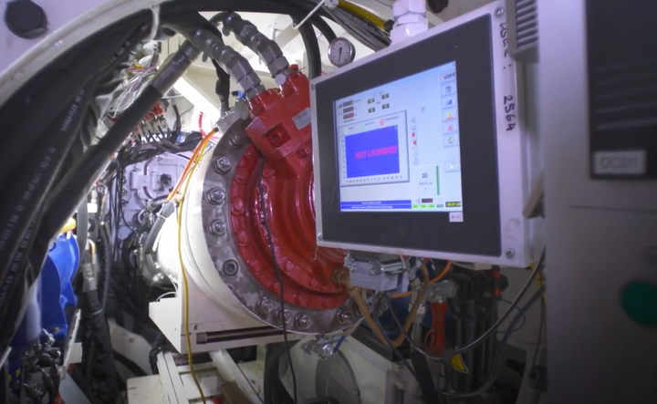 micro tunnel boring machine undergoes testing