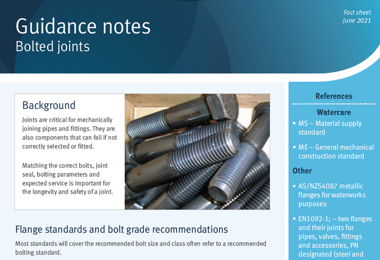 Bolted joints guidance note