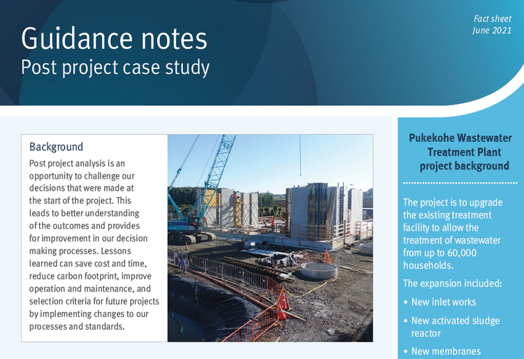 Guidance notes post project case study