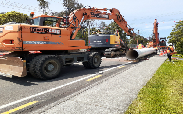 Huia 1 watermain upgrade