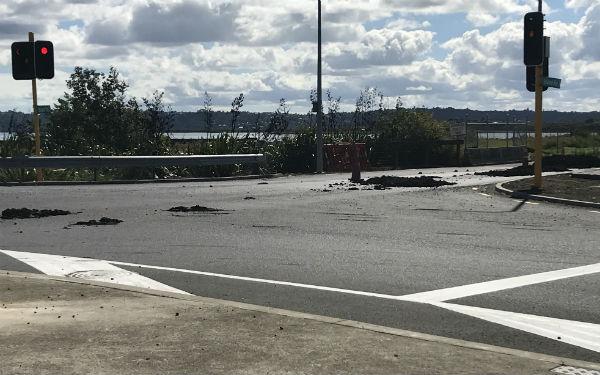 Sludge spill affects Ascot Road, Māngere