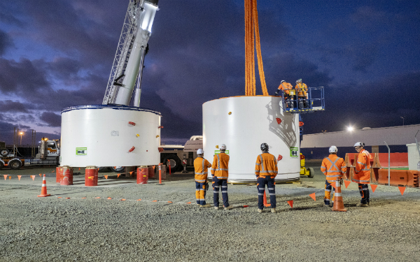 It's here – our Central Interceptor Tunnel Boring Machine (TBM) arrives in Auckland