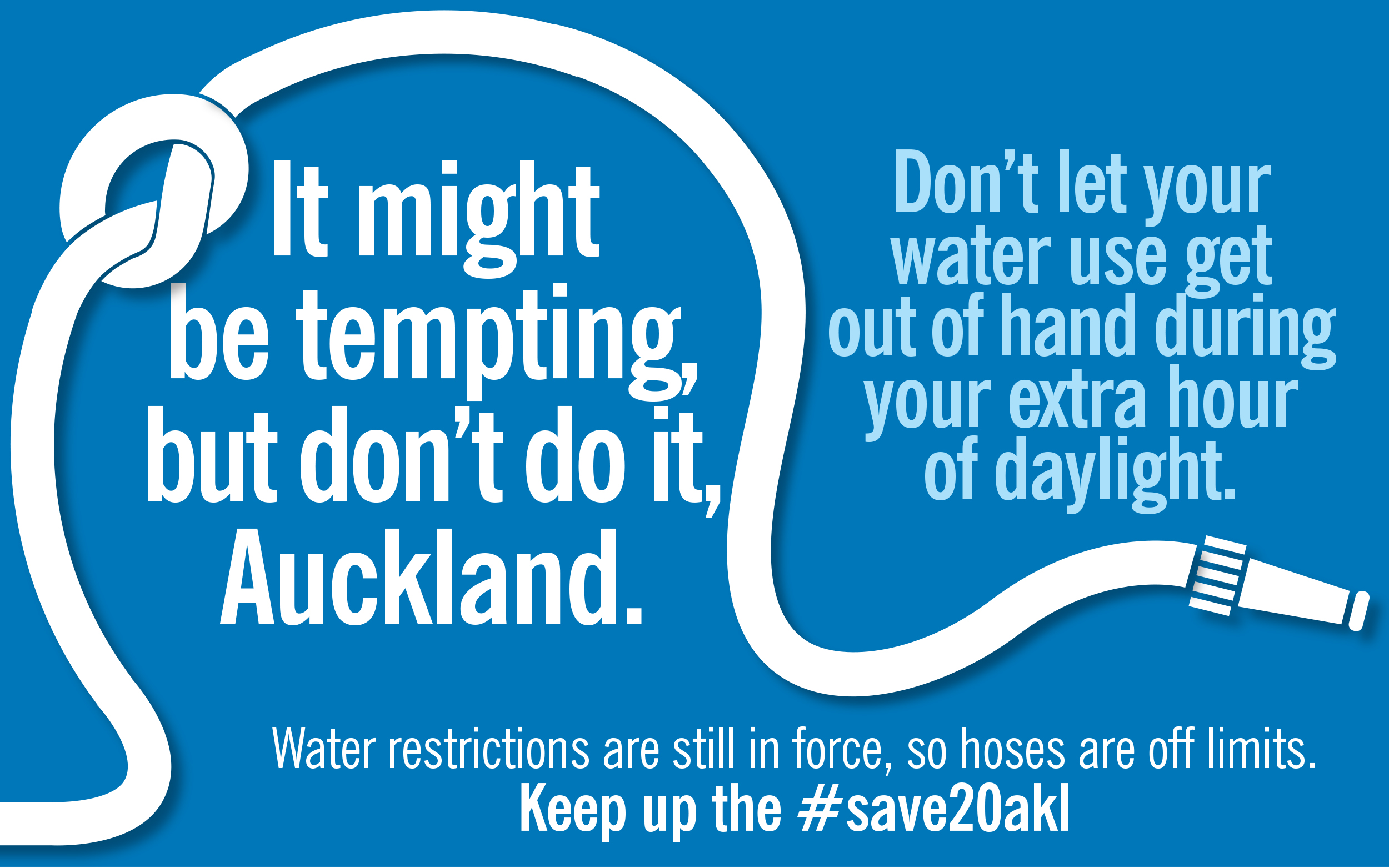 Aucklanders urged to keep saving water after daylight savings kicks in