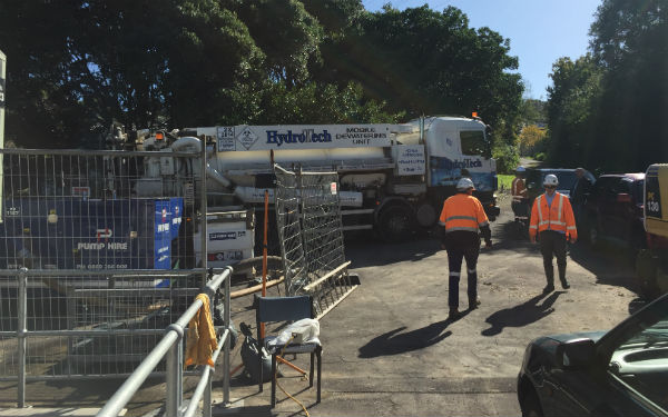 Wastewater pipe being repaired on Hillsborough foreshore