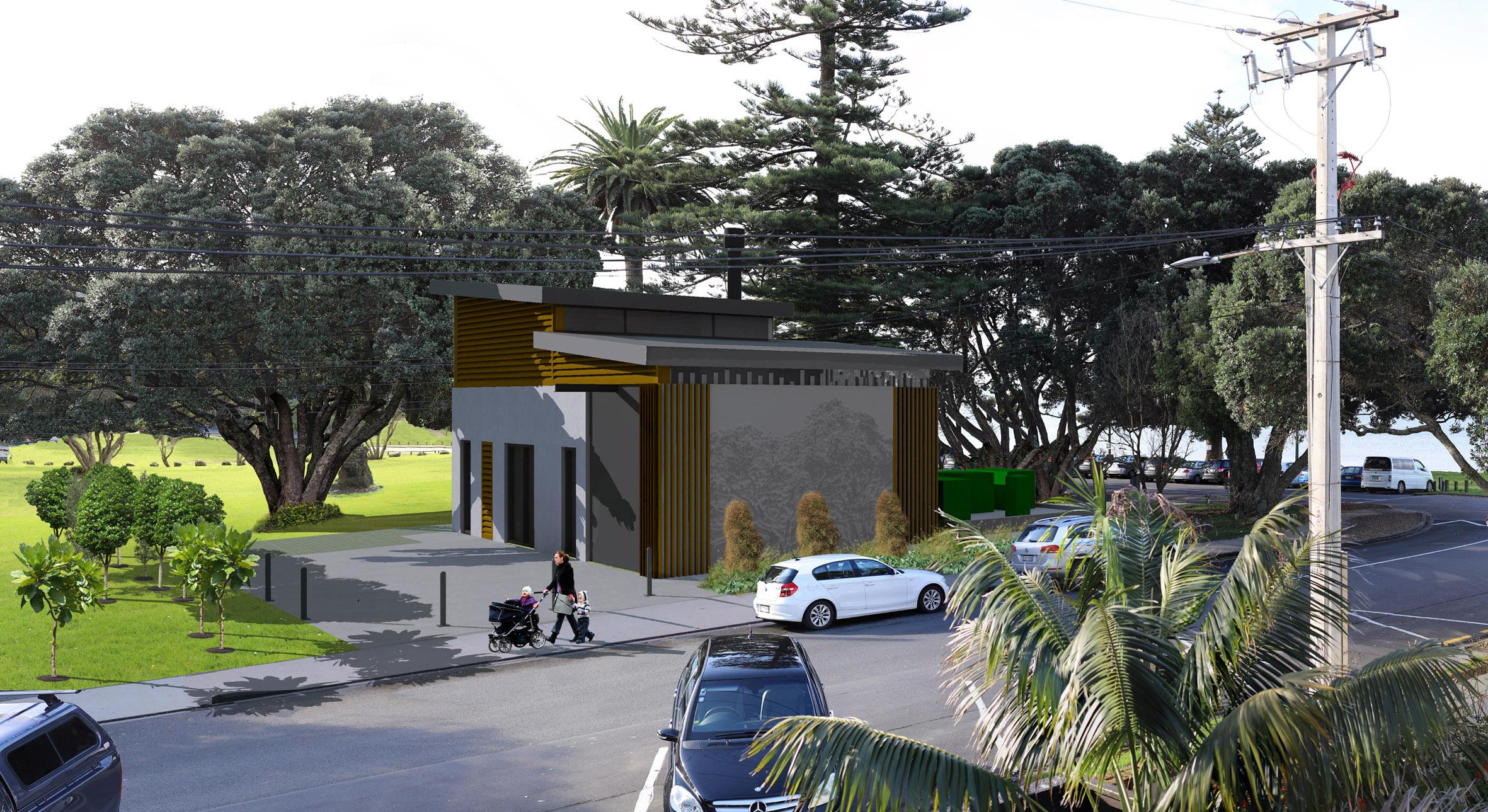 Mairangi Bay wastewater treatment plant concept design image