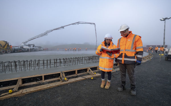 First giant concrete pour takes place at our new Pukekohe reservoir site