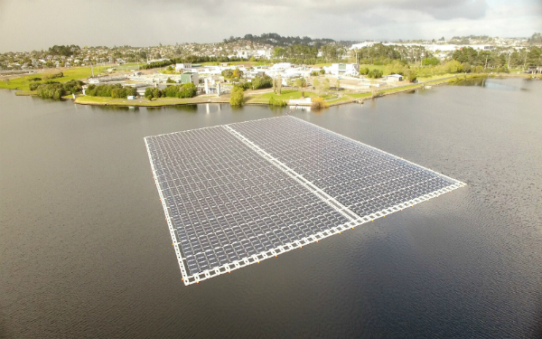New Zealand's first floating solar array unveiled