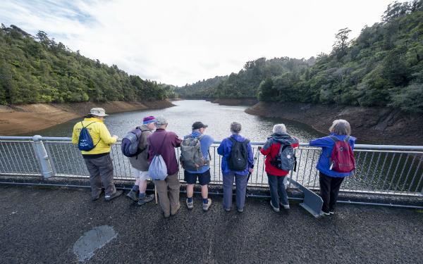 Dramatic rise in Upper Nihotupu Dam highlights relative size of each water storage lake