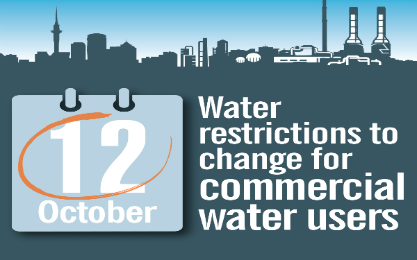Auckland Council to change water restrictions for commercial water users